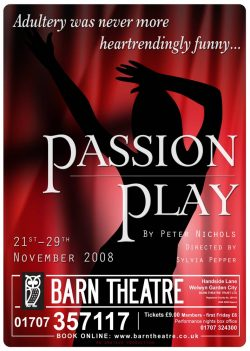 Passion Play by Peter Nichols - Poster