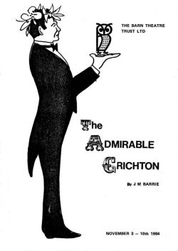 The Admirable Crichton by J M Barrie-Poster
